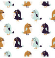 bird sir cute seamless pattern vector image vector image