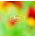 blurred nature summer green and red vector image vector image