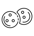 bowling balls icon outline style vector image vector image