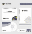 brain logo calendar template cd cover diary and vector image vector image