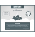 Certificate of achievement template Certification vector image vector image