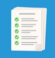 checklist icon on blue background flat for web vector image