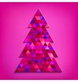 Christmas tree pink vector image