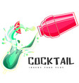 cocktail shake background image vector image