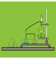 cokor icon with chemistry laboratory fla vector image