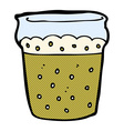 comic cartoon glass of beer vector image vector image