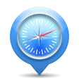 Compass Blue Icon vector image vector image