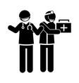 coronavirus covid19 19 physicians occupation vector image vector image