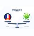 coronavirus or france creative concept scales vector image