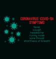coronavirus symptoms abstract covid-19 novel vector image