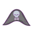 cute pirate hat icon vector image