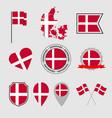 denmark flag icons set national flag kingdom vector image vector image
