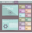 Desk Calendar 2016 Print Template with vector image vector image