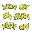 Different phrases written like as Pokemon logo vector image vector image