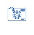 digital camera line icon concept digital camera vector image vector image