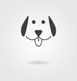 dog icon with shadow vector image