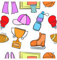 doodle sport equipment object collection vector image vector image