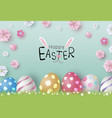 easter day design eggs and flowers vector image vector image