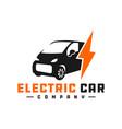 electric car logo design vector image