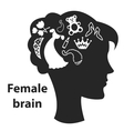 Female brain vector image