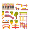 flat playground vector image vector image