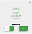 forest logo line design landscape symbol vector image