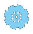 gear wheel design vector image vector image