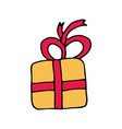 gift cartoon hand drawn icon vector image vector image