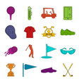 golf items icons doodle set vector image vector image
