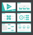 Green presentation templates Infographic elements vector image vector image