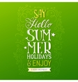 Handwritten quote Hello Summer Holidays vector image vector image