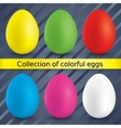 Happy easter colorful eggs collection vector image