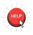 Help button icon vector image
