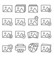 image line icon set on white background vector image