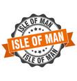 isle of man round ribbon seal vector image vector image