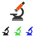 labs microscope flat icon vector image vector image