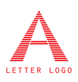 Logo A letter Isolated on white background vector image vector image