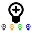 medical bulb stroke icon vector image