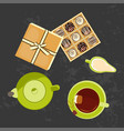 menu for tea time vector image