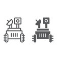 moon rover line and glyph icon space and vector image vector image