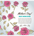 mothers day text best mom ever background with vector image vector image