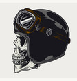 motorcyclist skull side view vintage template vector image vector image