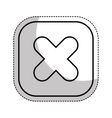multiplication button symbol isolated icon vector image vector image