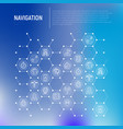navigation and direction concept in honeycombs vector image