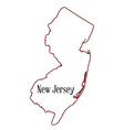 new jersey vector image vector image