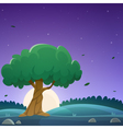 Night Countryside Landscape vector image vector image
