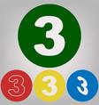 number 3 sign design template element 4 vector image