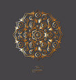 ornamental gold flower oriental mandala on grey vector image