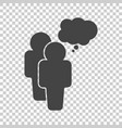 people icon with speech bubbles flat vector image