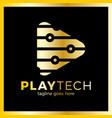 play tech logo vector image
